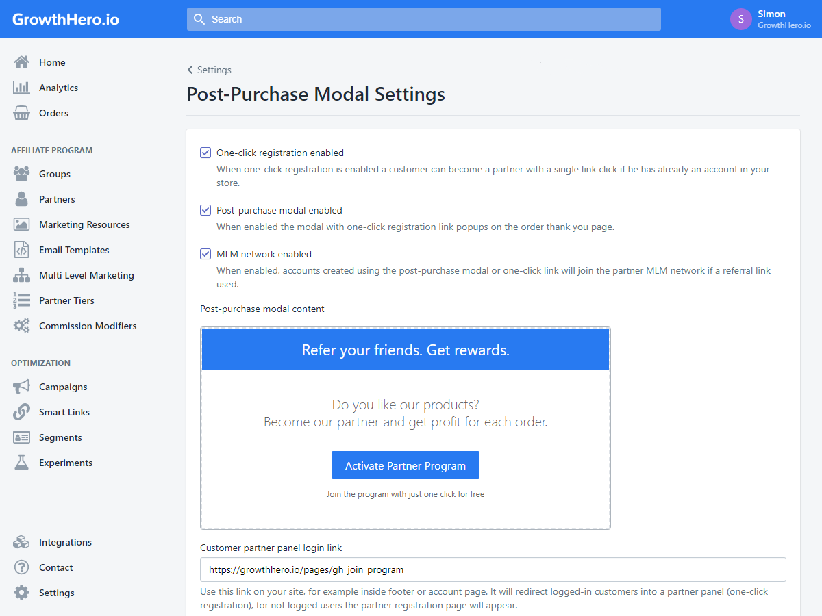 shopify affiliate app add-ons