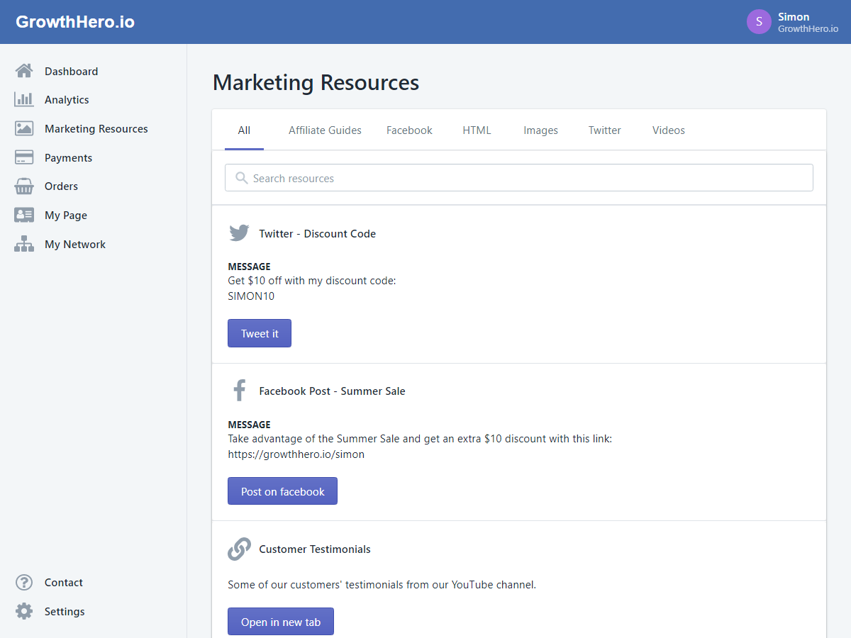 marketing resources for affiliates